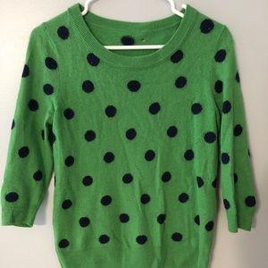 JCrew Factory Polka Dot Sweater